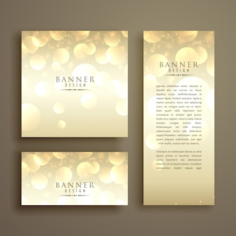 Shiny bokeh card design template