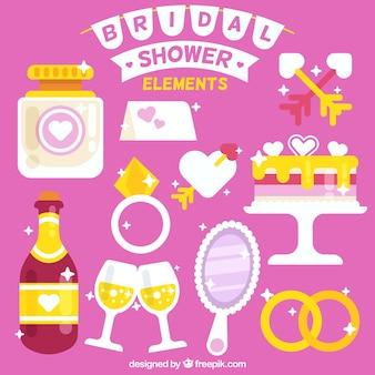 Shiny bridal shower elements