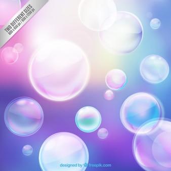 Shiny bubbles background