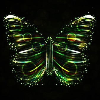 Shiny butterfly abstract illustration