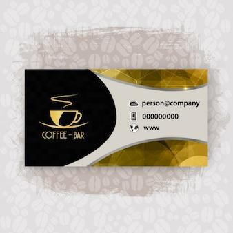 Shiny cafeteria business card