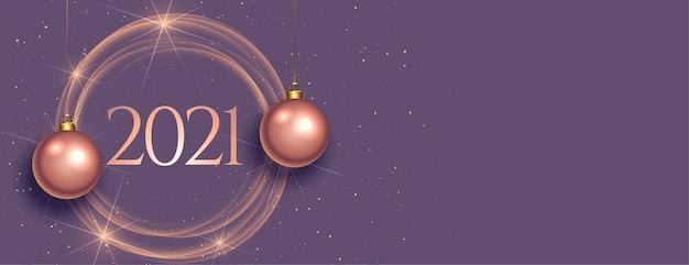 Bandiera di felice anno nuovo celebrazione brillante
