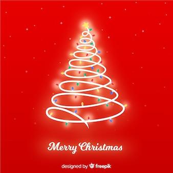 빛나는 크리스마스 트리 배경