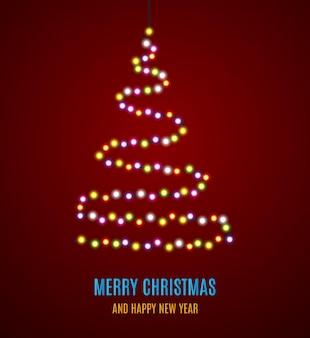 Блестящая рождественская елка.