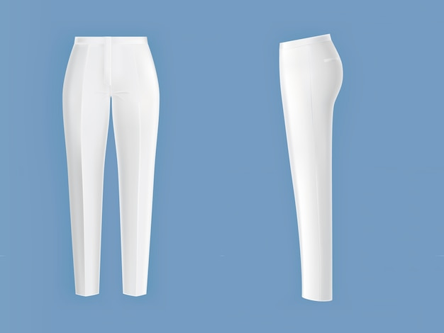 Shiny clean white womens pants