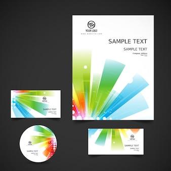 Shiny colorful business stationery