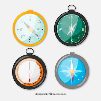 Shiny colorful compass pack