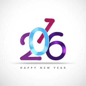 Shiny colorful new year 2016 card