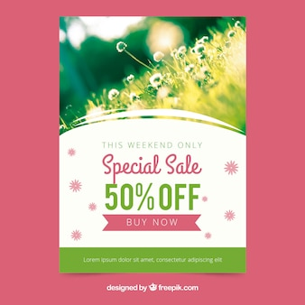 Shiny cover template for spring sales