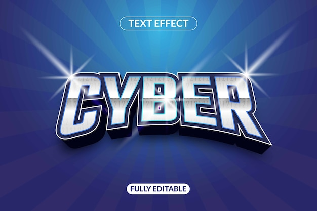 Shiny cyber text effect