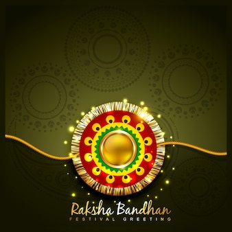 Shiny dark raksha bandhan design