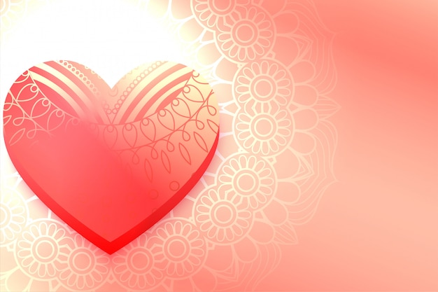 Shiny decorative heart beautiful valentine day background