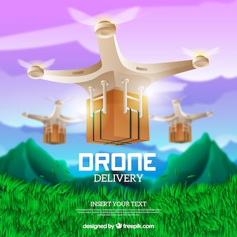 Shiny delivery drone design