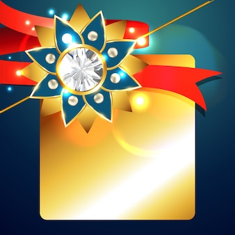Shiny design for raksha bandhan