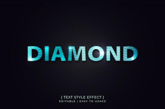 Эффект shiny diamond text style с текстурой волны