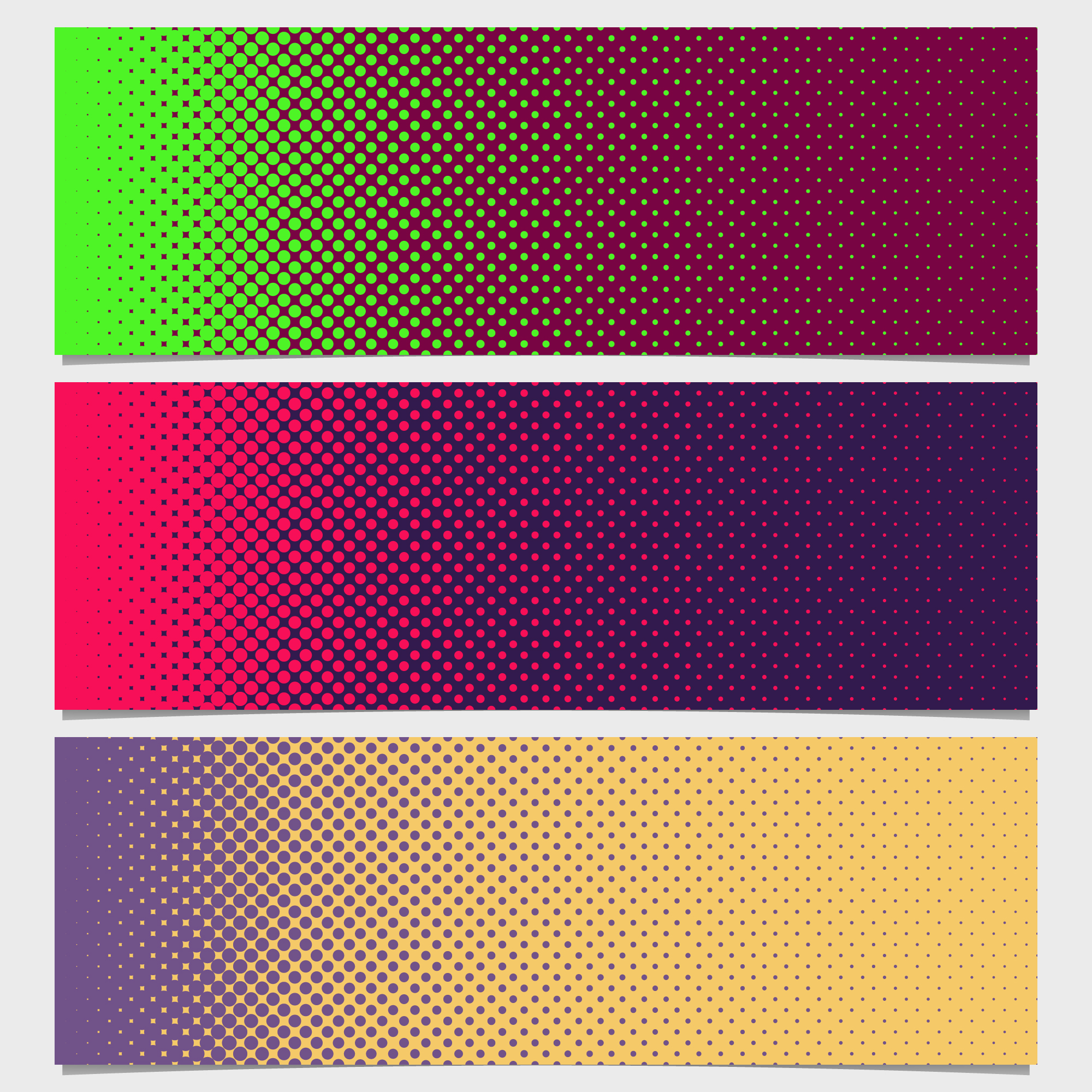 Shiny dots banners collection