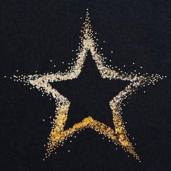 빛나는 먼지가 많은 금 별 벡터