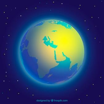 Блестящий земной шар