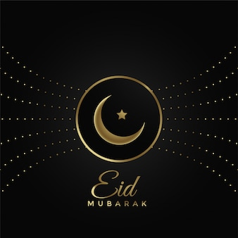 Shiny eid festival design on black background