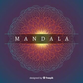Shiny elegant mandala background