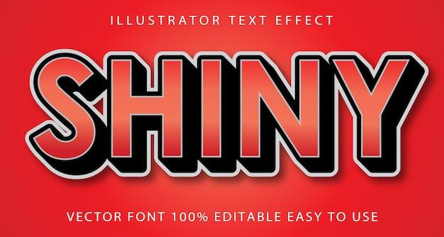 Shiny font text effect