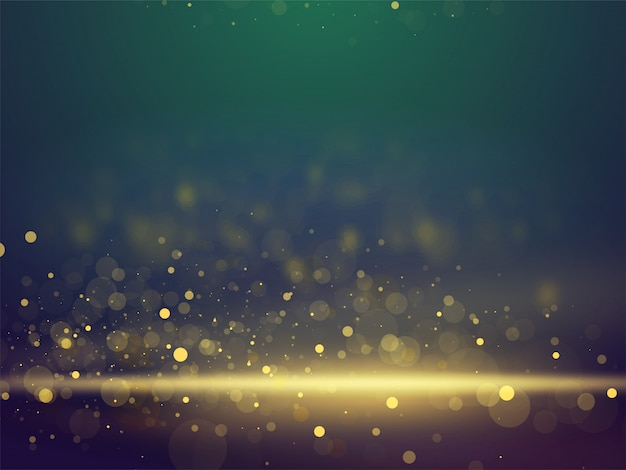 Shiny glittering bokeh abstract lighting blurred background.