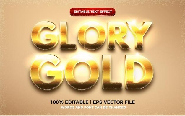 Shiny glory gold 3d editable text effect