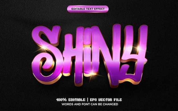 Shiny glossy 3d editable text effect