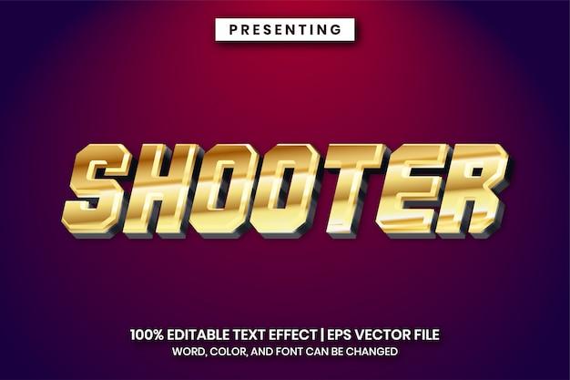 Блестящий золотой текстовый эффект названия игры
