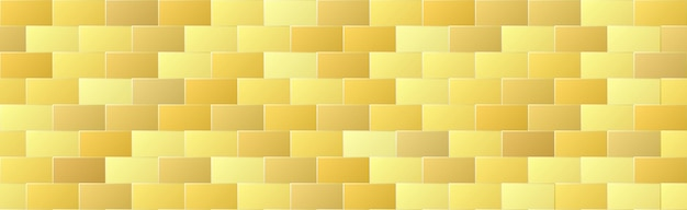Shiny gold gradient color brick seamless pattern