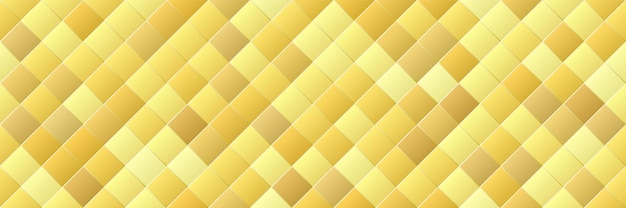 Shiny gold gradient color rhombus seamless pattern