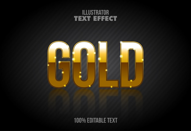 Shiny gold letters style editable text effect