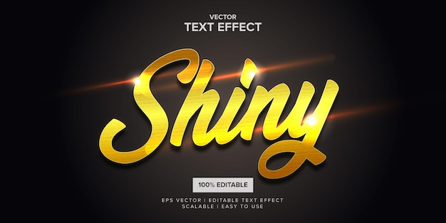 Shiny gold premium editable  text effect