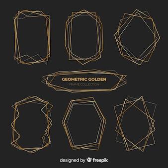 Shiny golden frame pack