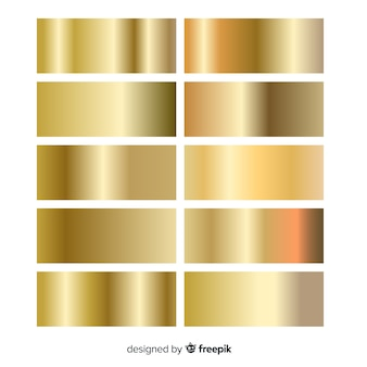 Shiny golden gradient pack
