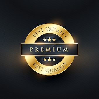 Shiny golden luxury badge