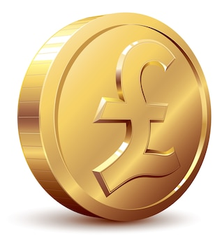 Shiny golden pound symbol