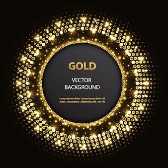 Блестящий золотой круглый фон
