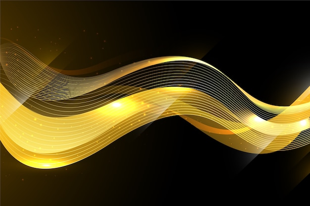 Shiny golden wave background