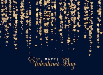 Shiny hearts background design vector