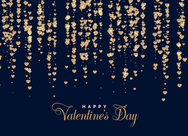 Shiny hearts background design vector