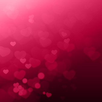 Shiny hearts bokeh beautiful valentines bay background