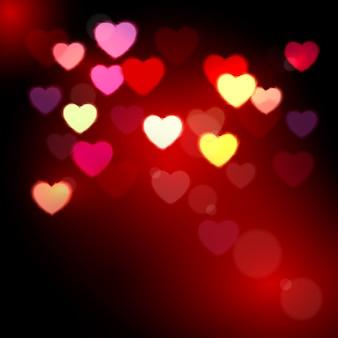 빛나는 마음. 발렌타인 데이 배경.