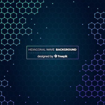 Shiny hexagonal background