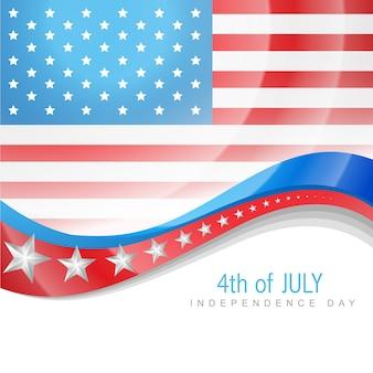 Shiny independence day illustration