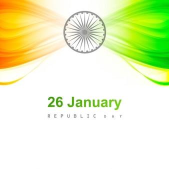 Shiny Indian flag card