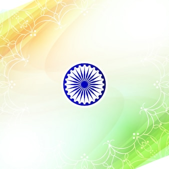 Shiny indian independence day design