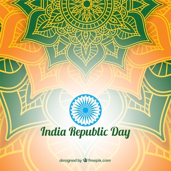 Shiny indian republic day design