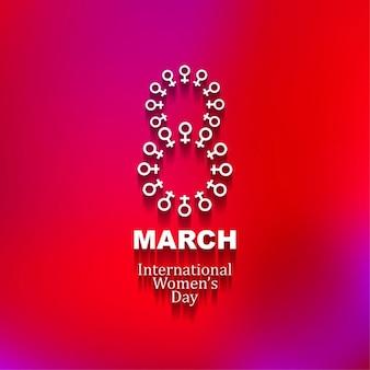 빛나는 국제 여성의 날 배경