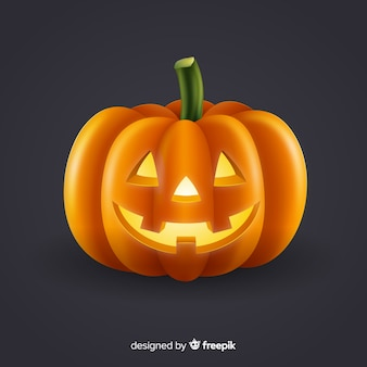 Shiny isolated halloween pumpkin
